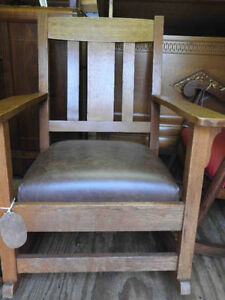 variety antique arts & craft /mission chairs new leather/fabric