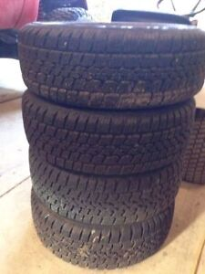 15 inch winter tires for sale- used Kitchener / Waterloo Kitchener Area image 3