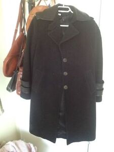Cashmere Leather Detailed Coat
