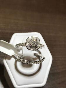 14K WG & ROSE GOLD 1.00TCW DIAMOND ENGAGEMENT RING 50% OFF!!!!!!