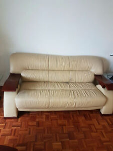 Used Genuine Leather Couch