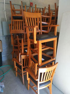 60 RESTAURANT GRADE ARM CHAIRS FOR SALE