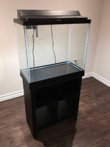 Top Fin 20 Gallon Aquarium Fish Tank & Stand + Accessories