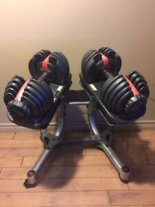 Bowflex Adjustable Dumbbells Selecttech 52.5lbs + Stand