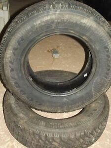 """4 x 15"""" Winter Tires (Studded) 215/75/15"""