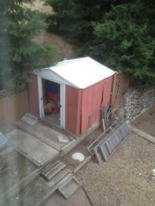 Free aluminum shed you take apart and away