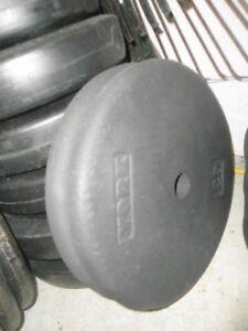 145 pounds of cast iron plates