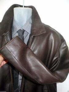 NEW $1200 Mens Andrew Marc Leather Jacket Coat Brown 44 46 Wow