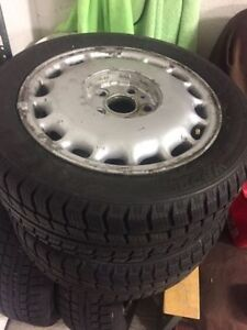 195/55/R15 Set of winter tires on wheels 6/32 tread