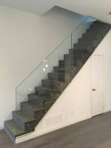 GlassRailing standoff, framed all inclusive with stainless steel