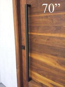 """Matt Black Entrance Entry Store Front Door Pull Push Handles 64"""""""