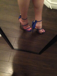 NEW BLUE SEXY HEELS SIZE 8.5/9 PERFECT FOR DANCING IN CUBA