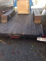 16.5 flat bed trailer