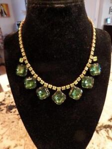 Beautiful Antique Emerald Green Necklace