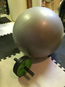 yoga ball and abs wheel