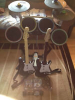 Rockband Set for Ps3 Drum 2 Guitar Mic all Adapter 2 games