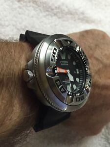 Citizen 46mm EchoZilla mint condition with many extras London Ontario image 2