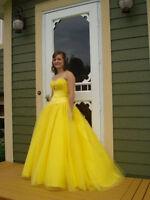Sunshine Yellow Prom Dress