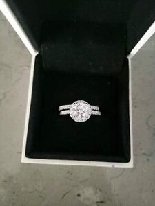 18 Carat white gold engagement ring and wedding band Semaphore Port Adelaide Area Preview