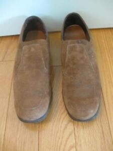 PAIR of MEN'S CLASSY SLIP-ON-STYLE BROWN SUEDE LEATHER SHOES
