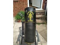 "Gold's Gym 36"" Leather Punch Bag - AS NEW (w/ all necessary accessories)"