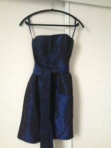 Cocktail dress navy blue, strapless - Jacob