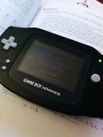 Black Gameboy Advance with Game