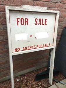 Built sign for real estate but can be repurposed