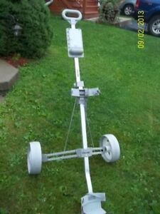 Two Wheeled Push/Pull Golf Cart Fold-able