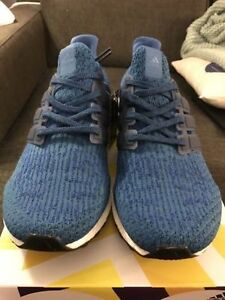BNIB DS Adidas Ultra Boost 3.0 Mystery Blue Core Blue size 10.5