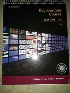 COLLEGE KEYBOARDING TEXTBOOK KEYBOARDING COURSE LESSONS 1-25 SLC