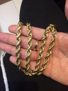 Gold 10k thick rope chain
