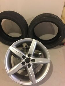 Two Pirelli tires and rims for 2011/2012 Audi A4