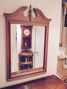 Solid Maple Roxton Mirror MINT CONDITION