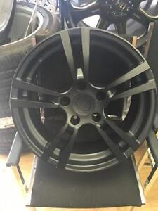 Four New 18 inch Porsche Reps -- (5x130) - MATTE BLACK