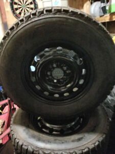 Selling 4 235/70/16 snow tires and rims