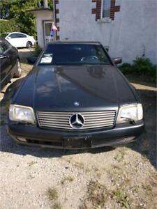 1995 MERCEDES-BENZ SL320 CONVERTIBLE SAFETIED FOR $6450+HST TAX!