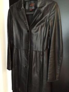Danier Leather Long Jacket - Size XS to Small .