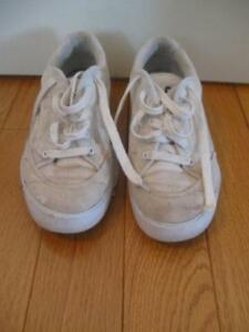 PAIR of SIZE 8 C GUESS WHITE RUNNING SHOES...