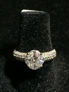 1.30TCW 18K WG BIG ENGAGEMENT RING ON SALE NOW !!!!! 50% OFF