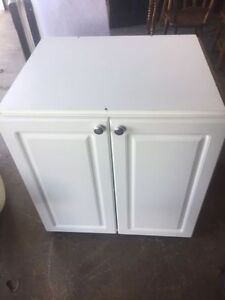 White Kitchen Cabinet (used for Microwave Stand)
