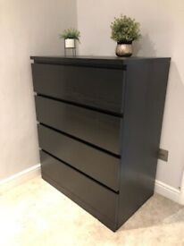 Two black matching Ikea chest of drawers or sold separate!