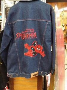 manteau en jeans spiderman ( u014128 )