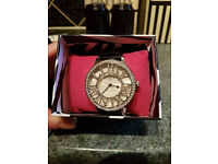 gorgeous boxed Lipsy Diamonte faced Watch