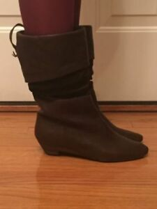 THE  DARK BROWN BOOTS BY INDUSTRY FOR SALE