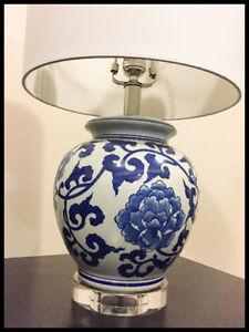 Ceramic lided table lamp