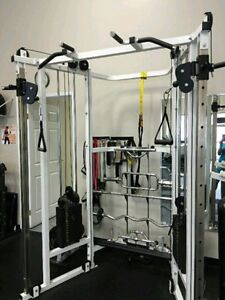 Commercial Functional trainer dual stack multi grip pull up