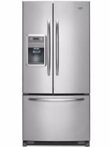 Réfrigérateur Stainless 33'', Portes française, Maytag