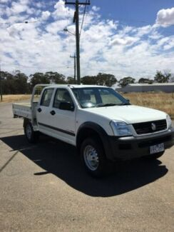 2004 Holden Rodeo RA LX Crew Cab White 5 Speed Manual Cab Chassis Yarrawonga Moira Area Preview