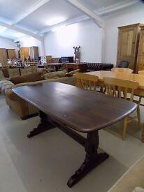 Retro Brown Ercol Refectory Table